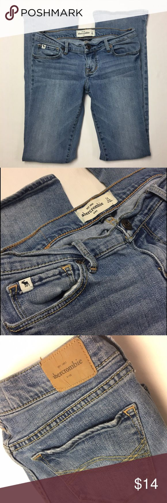 Abercrombie Girls Sz. 14 Jeans Abercrombie Kids size 14 light wash boot cut jeans. Excellent used condition. No stains, tears or thinning at the knee. Check out my closet for more items to receive 15% bundle discount & save with combined shipping! 🤑👍 abercrombie kids Bottoms Jeans
