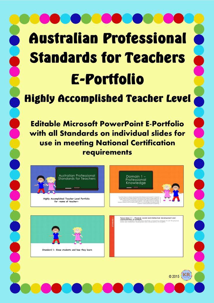 Highly Accomplished Teacher Level - Australian Professional Standards for Teachers E Portfolio