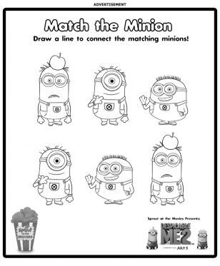Minion Coloring Sheets And Activities From Sproutonline