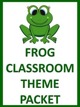 Frog Classroom Theme Packet repinned via teachingfriends on Teaching Resources