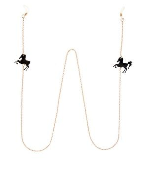 Horse sunglasses chain.  (Or normal, everyday glasses chain!  Amiright?)