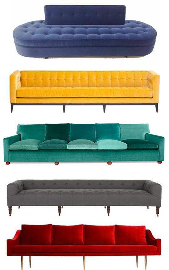 Supersized Style: Extra Long Sofas Apartment Therapy Shopping Guide The turquoise one is amazing.Way too loud for me now, but maybe one day..