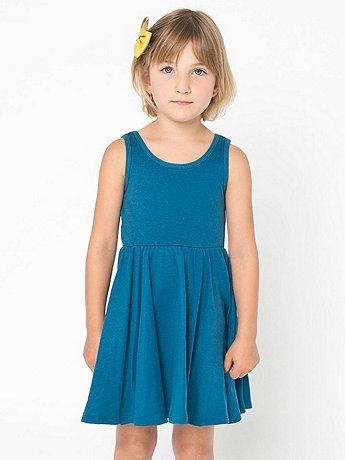 Organic Kids Baby Rib Skater Tank Dress - American Apparel $20USD
