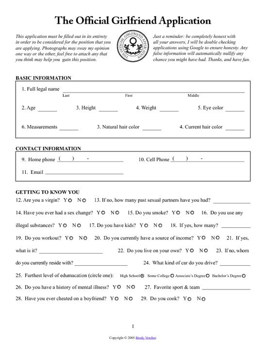 Girlfriend Application For Facebook