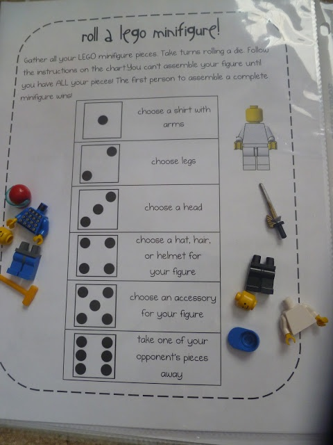 Build a Lego Guy Game