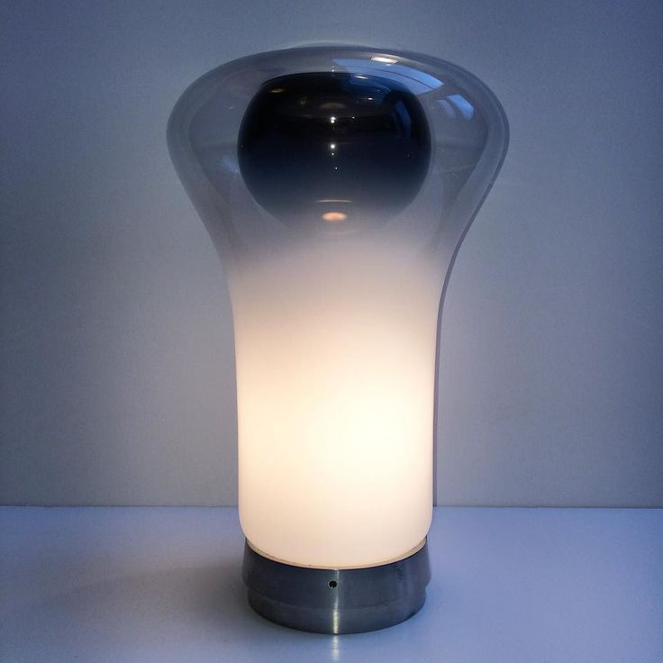 "20cmodern:  ""- Angelo MANGIAROTTI (1921 - 2012) Saffo, 1966/67 Hand-blown Murano glass diffuser, chrome-plated base 13 3/8 x 8 5/8 x 8 5/8 inches 34 x 22 x 22 cm Manufacture: Artemide  Note: Original Saffo with cast, chrome-plated base bearing the ""Modelo Saffo"" mark ______________________________________________ #thomasrugani #angelomangiarotti #mangiarotti #saffo #artemide #murano #forsale"" by @thomasrugani on Instagram http://ift.tt/1mUhDAM"