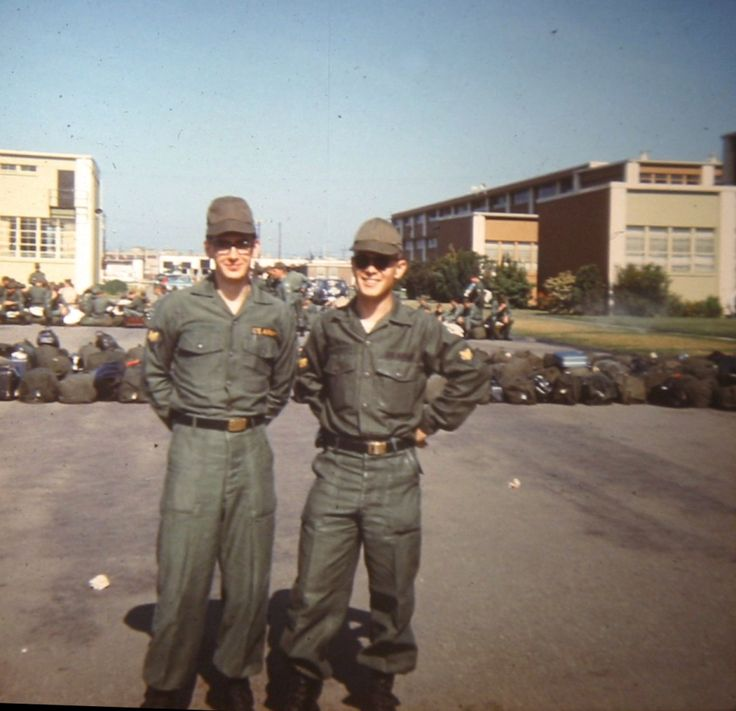 JOURNEY TO VIETNAM 31 May 68 Oakland, Ca. Joe Ciacio and Ivan Katzenmeier – Oakland – awaiting transport to Viet Nam – We are leaving at 5:30 on Flight F239. Flying Tiger Airlines…