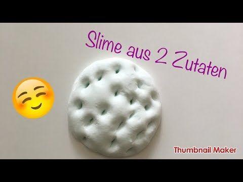 DIY Slime aus 2 Zutaten selber machen / Slime ohne Kontaktlinsenlösung /Laras DIY Welt - YouTube