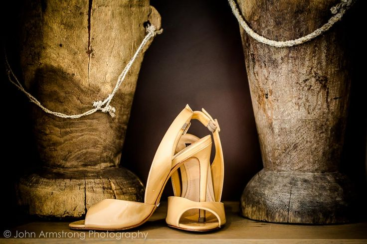 Bride's shoes. Cream shoes. Image by John Armstrong