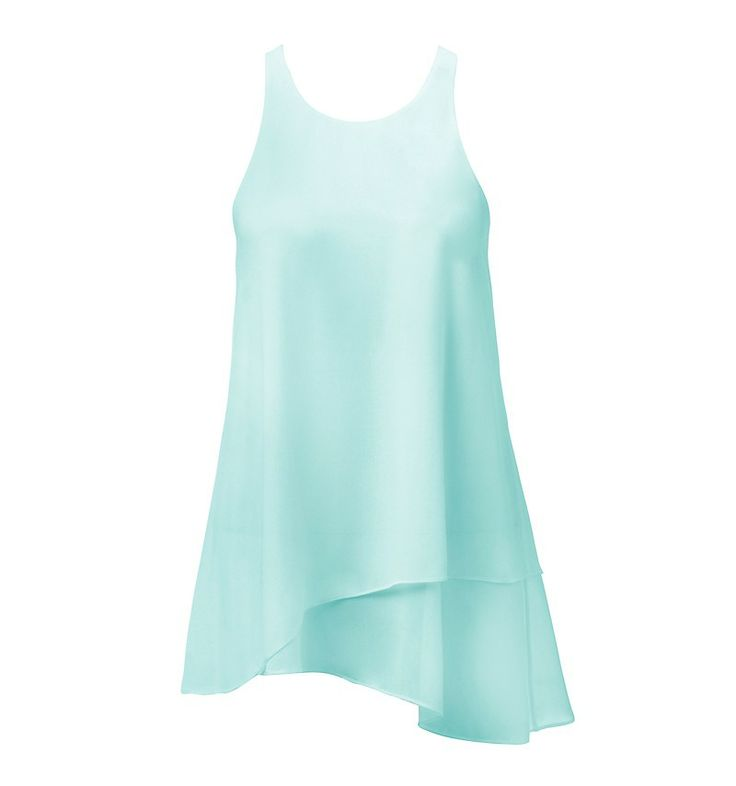 DEANNA DOUBLE LAYER TANK - CRYSTAL WATER BLUE