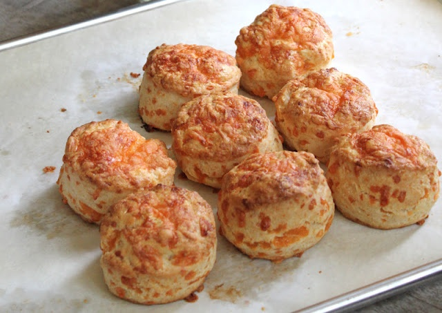 Cheddar Cheese Cream Biscuits; via the little epicurean.