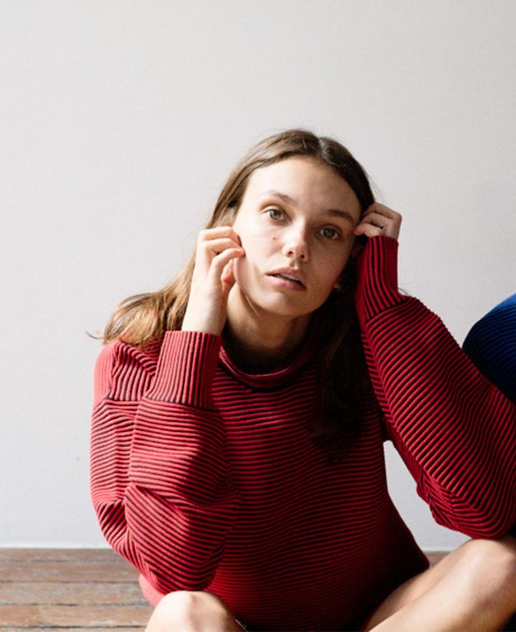 HI-NECK RIB SWEATER | NAGNATA MOVEMENT KNITWEAR Organic cotton fully-fashion knitwear designed for yoga, pilates, low impact exercise and as transitional fashion pieces for studio-to-street style.
