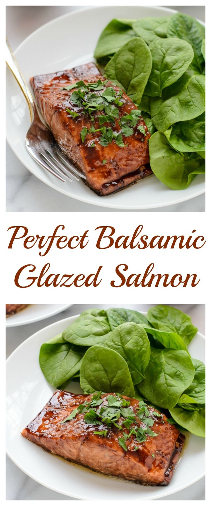 Perfect Balsamic Glazed Salmon. Easy, impressive and ready in 20 minutes!