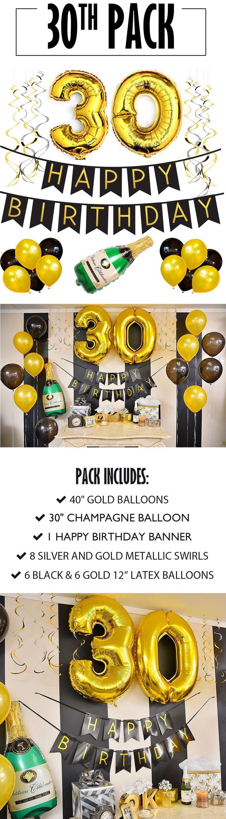30th Birthday Banner and Balloon Pack!