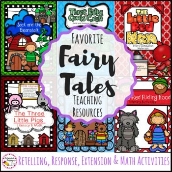 Fairy tales are amazing tools for teaching reading comprehension! This unit is full of fairy tale activities which will help students to retell to sequence events, write about characters, and extend their learning with more literacy and math fun as they read 6 common fairy tales!