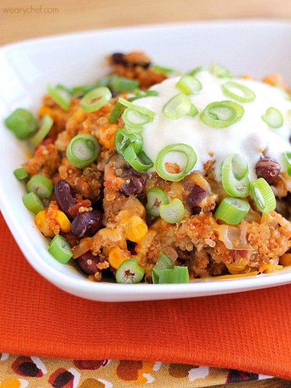 Taco Quinoa Turkey Skillet Dinner - The Weary Chef
