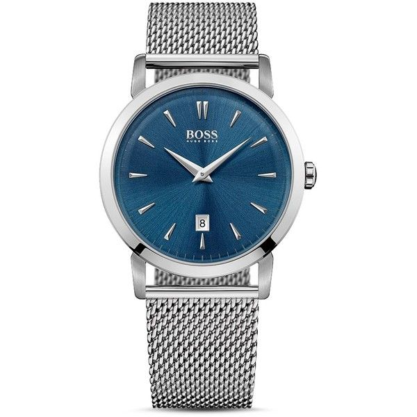 Boss Hugo Boss Slim Ultra Watch, 40mm (30115 RSD) ❤ liked on Polyvore featuring men's fashion, men's jewelry, men's watches and blue