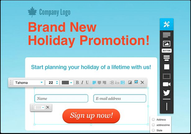 Build lead capture page system using our landing page software