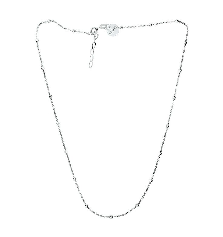 Sterling Silver Necklace with Spaced Single Balls