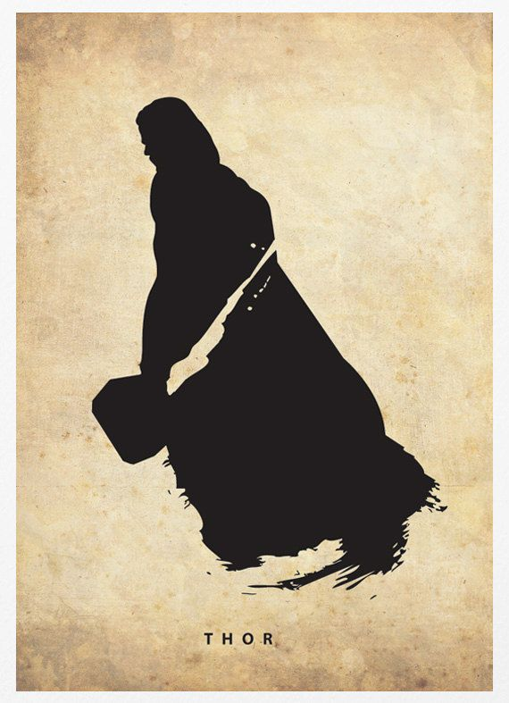 Thor Silhouette Poster