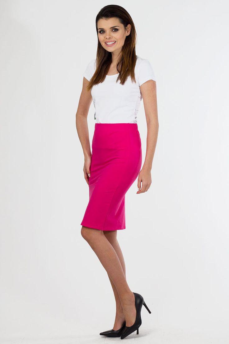 Εφαρμοστή μίντι φούστα.95% Cotton 5% Lycra