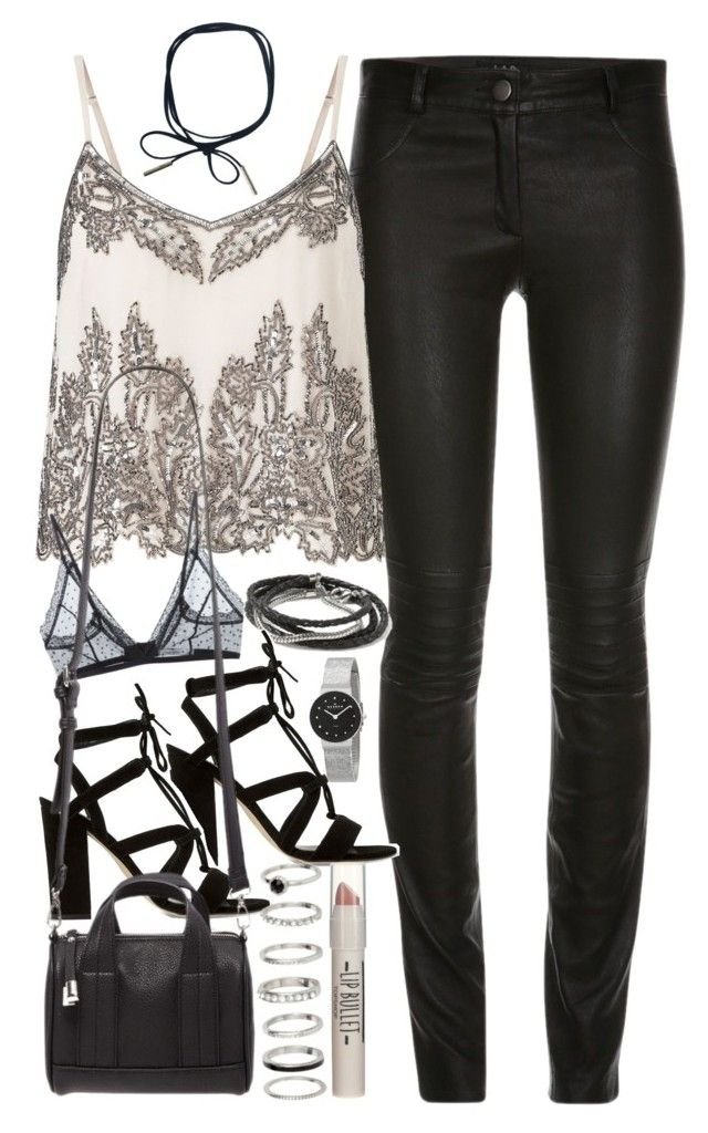 """""""Outfit for clubbing"""" by ferned on Polyvore featuring Miss Selfridge, Anine Bing, Banana Republic, Dune, Forever 21, Topshop and Skagen"""