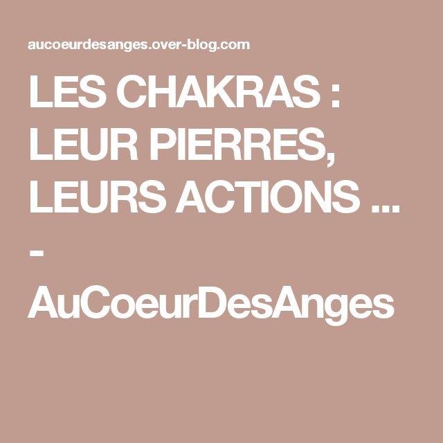 LES CHAKRAS : LEUR PIERRES, LEURS ACTIONS ... - AuCoeurDesAnges