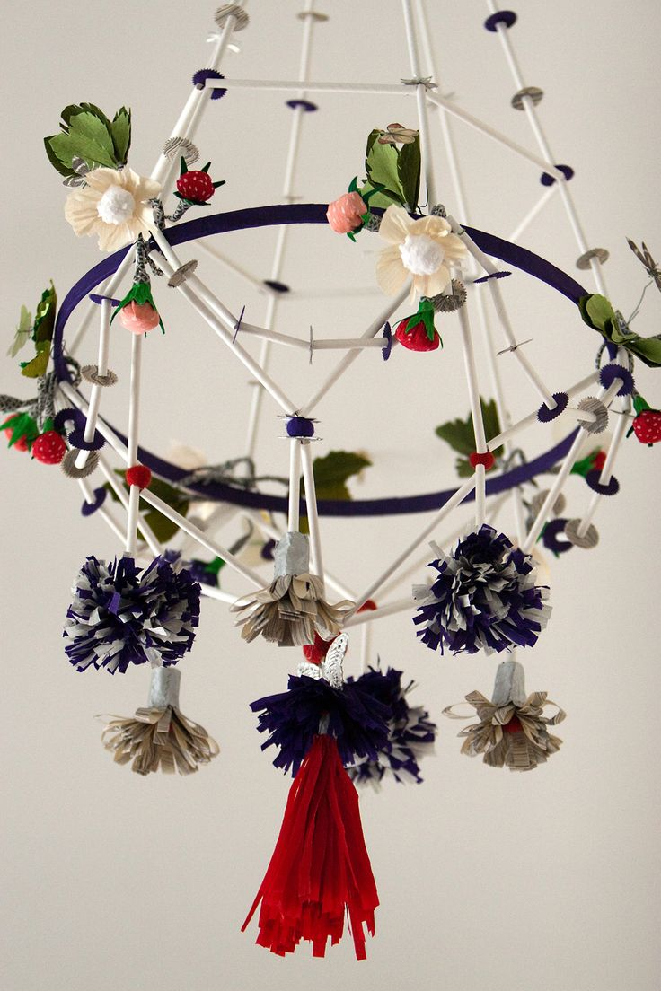 Paper floral chandelier crafthubs 278 best images about mobiler perch on pinterest arubaitofo Images