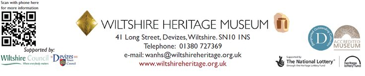 Logos: Heritage Lottery Fund, Wiltshire Council, Devizes Town Council, Accredited Museum, Designated As An Outstanding Collection