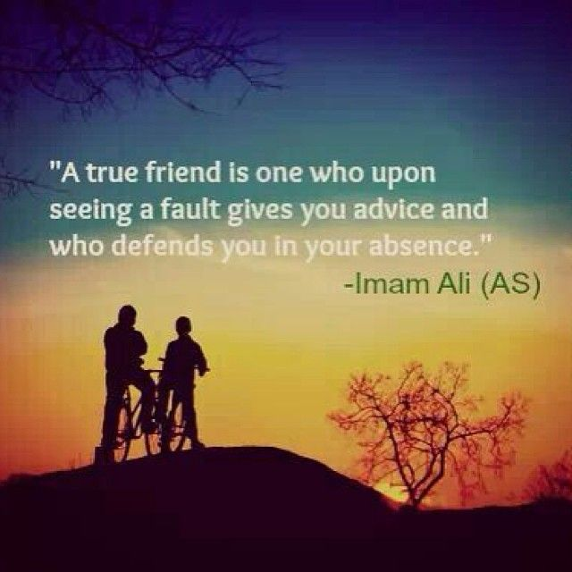 Quotes On Wah A True Friend Is: Imam Ali (as)