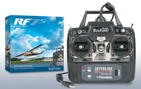 RealFlight RF7.5 R/C Flight Simulator -  InterLink Elite Controller Edition
