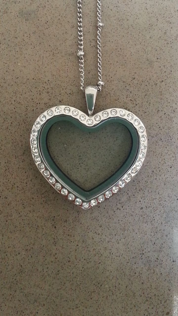 Silver Heart Locket with Crystals https://www.facebook.com/littletreazures