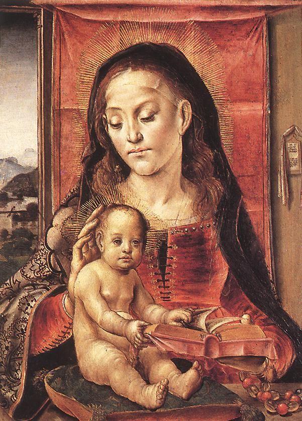 Virgin and Child - Pedro Berruguete (1450-1504) Panel, 58 x 43 cm Museo del Prado, Madrid