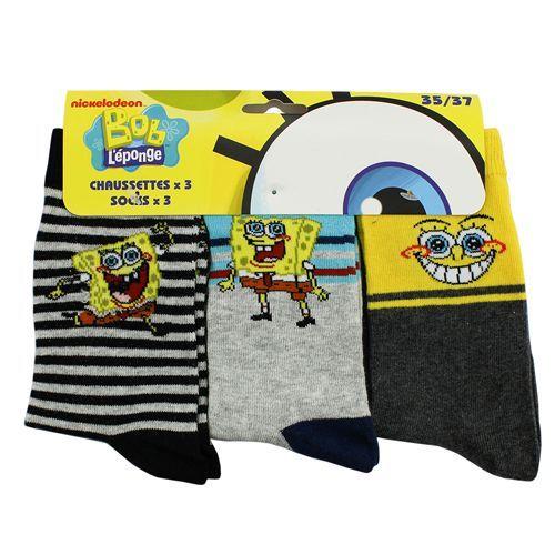 3-Pack Spongebob Kindersokken (Grijs, Antraciet en Zwart) #spongebob #kindersokken #sokken #sokjes #kindersokjes