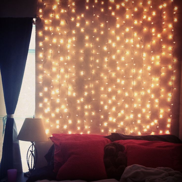 97 best images about Bedroom on Pinterest String lights, Light bedroom and Fairy lights