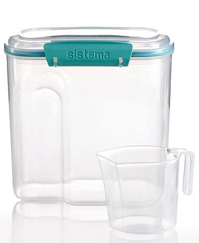 Martha Stewart Collection Storage Container, 81 Oz. with Measuring Cup