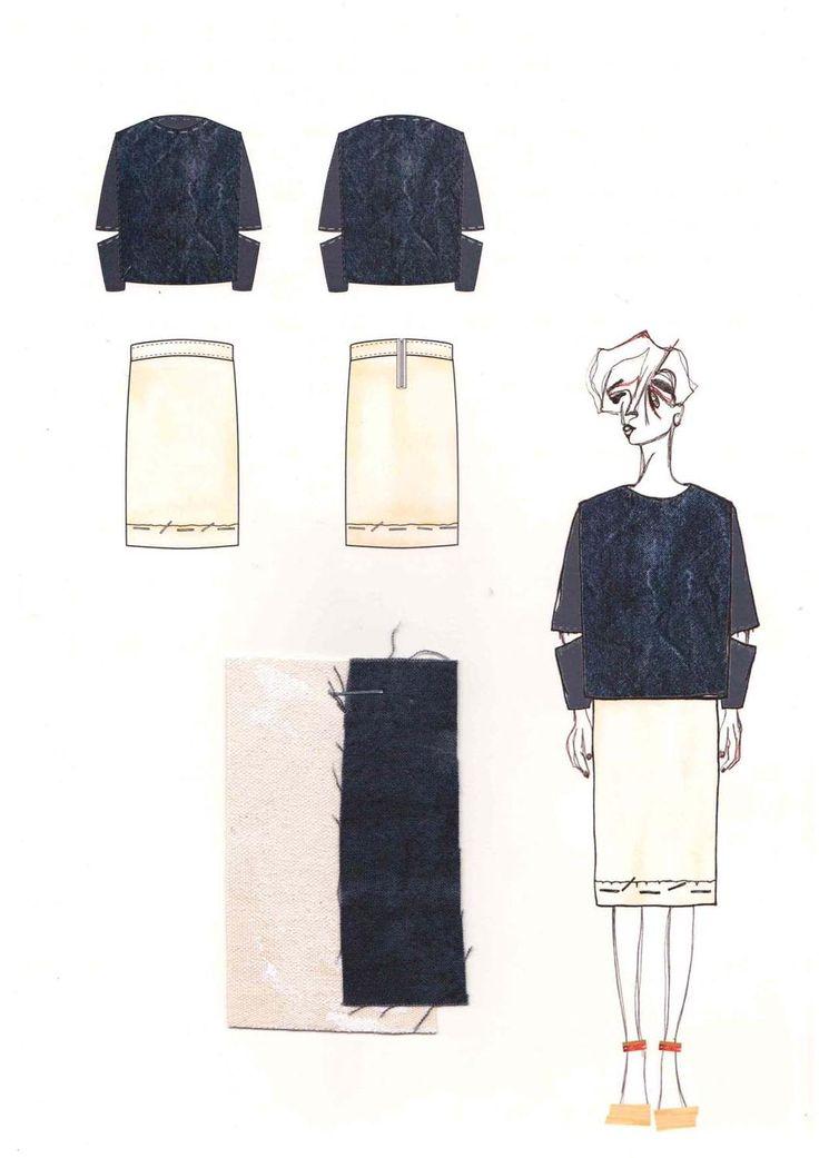 Fashion Sketchbook layout - fashion design drawings; fashion illustration; fashion portfolio // Grace Cooper