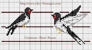 Two Swallows Cross Stitch Pattern – Cross-Stitch