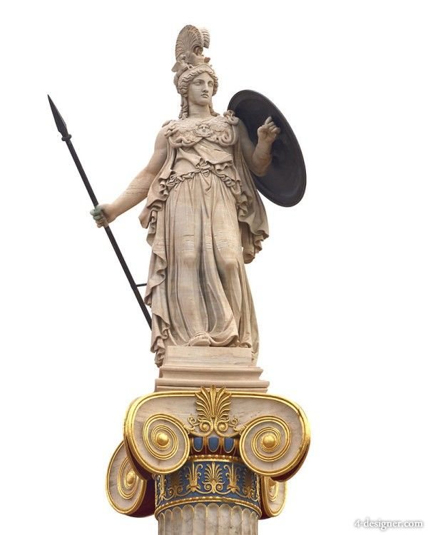 Ancient Greek goddess Athena sculpture HD pictures