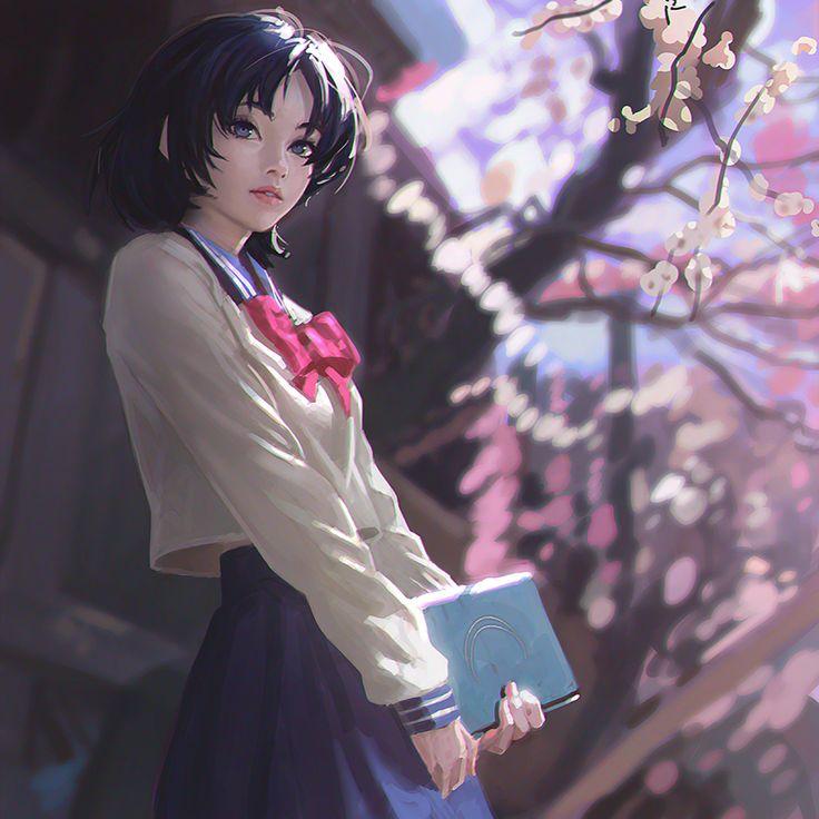 Concept artist and art lead Ilya Kuvshinov; Sailor Moon fan art; artstation . com