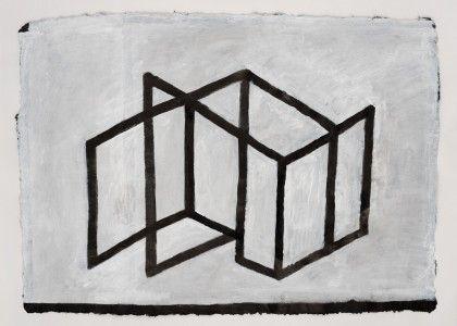 Koji Kamoji, Rysunek 58, 2014, tusz chiński, papier, akryl, 63x88cm