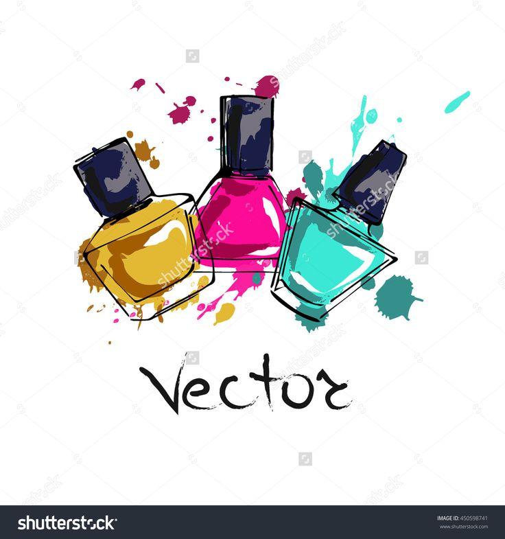 nail polish clipart vector free - photo #23