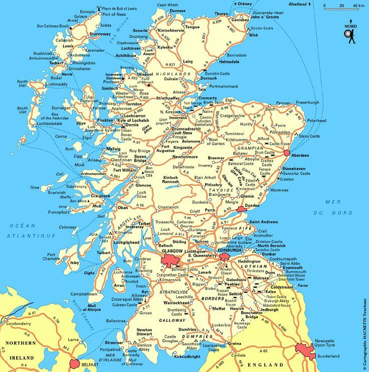 Carte Écosse : Plan Écosse - Routard.com