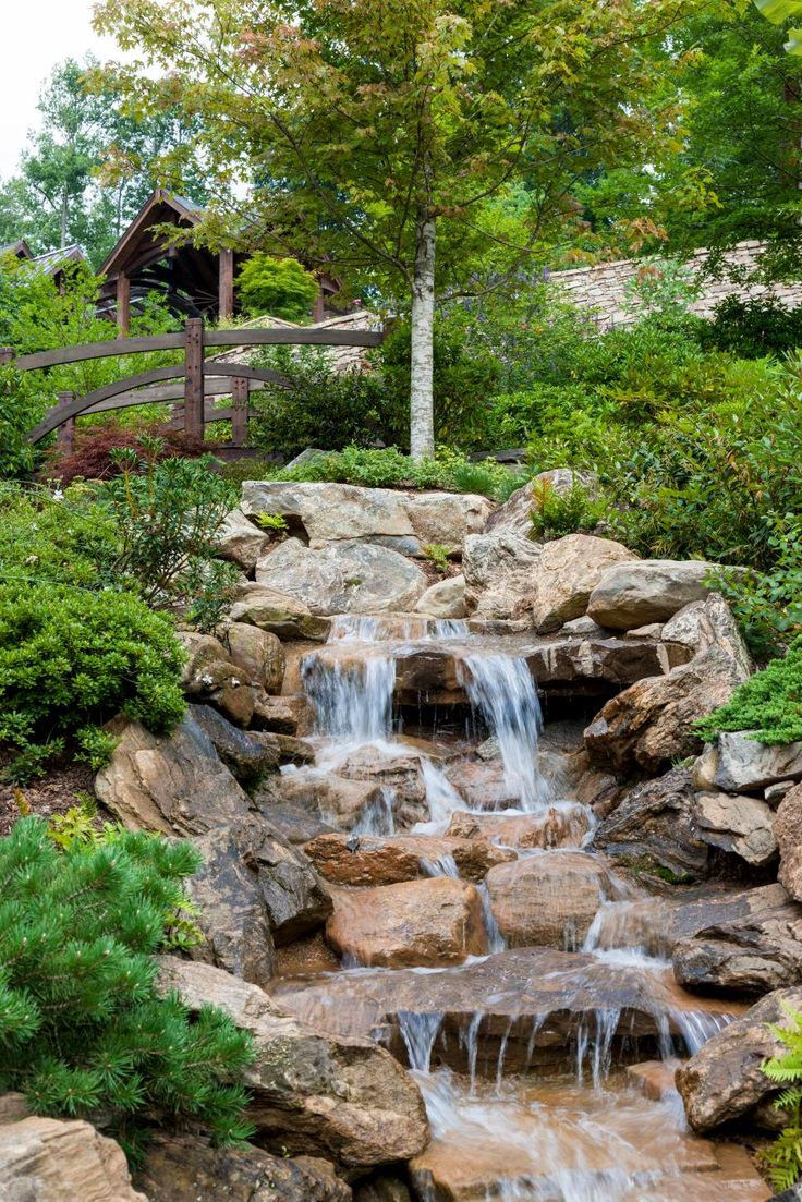 Best 25 backyard water feature ideas on pinterest for Garden waterfall