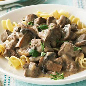 Healthy Slow Cooker Stroganoff. Sounds great! Trying this soon.