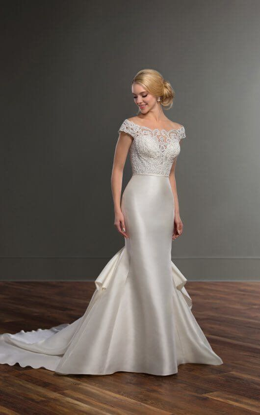 How To Bustle Your Wedding Dress Essense Designs