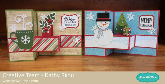My Happy Place: Lori Whitlock: Christmas Themed Pop Up Box Cards