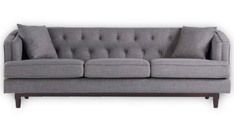 Buy Alpha Three Seater Sofa in Grey Colour by Madesos  Online: Shop from wide range of Sofas Online in India at best prices. ✔Free Shipping✔Easy EMI✔Easy Returns