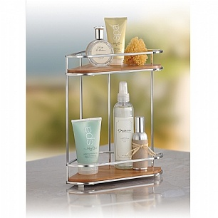Love This Two Shelf Corner Organizer For Keeping Things Handy On A Bathroom  Counter Top.