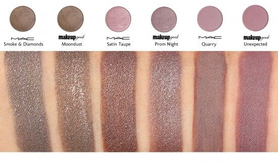 MakeupGeek dupe's for MAC's shadow's. Have to say love Makeupgeek more than i do Mac